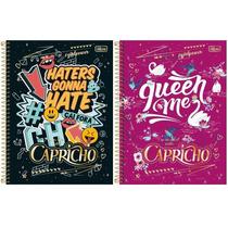 Caderno Capricho 2017 - Pacote C/2 Cadernos De 10 Matérias