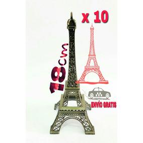 10 Torres Eiffel Paris 18 Cm Metal - Envío Gratis