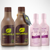 Escova Progressiva Naturale - Orgânica - 300ml + Kit Inoar