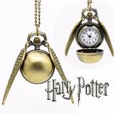Collar Inspirado En La Snitch De Harry Potter - Mini Reloj