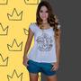 Camiseta Feminina Camisa Blusa Bata Ganesha Frete Grátis
