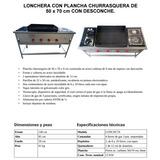 Cocina Lonchera Plancha Churrasquera 50x70 Certificada