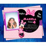 Invitación De Cumpleaños Digital De Minnie Mouse Disney