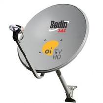 Kit Antena De Tv Chapa 60cm Banda Ku Com Lnbf E Kit Cabo