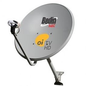 Antena Mini Parabolica 60cm Banda Ku Lnbf Universal Kit Cabo