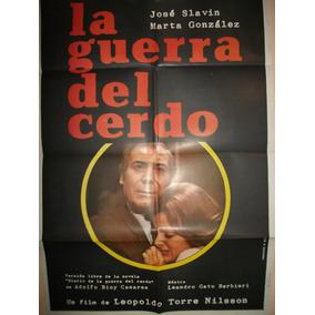 Poster Pelicula * La Guerra Del Cerdo *año 1975 Argentina