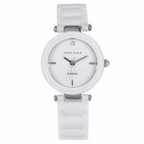 Reloj Anne Klein Ak1465 Blanco Ceramic Diamond Envío Gratis