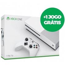 Xbox One S 1tb Slim Microsoft 4k Branco 1 Jogo Grátis