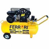 Compressor De Ar Mega Turbo 2 Cv Bivolt 100 Litros Ferrari