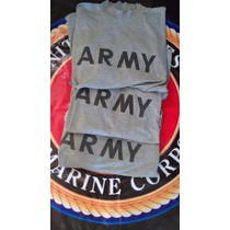 Playera Fitness Us Army Original Large Y X L Gris Negro