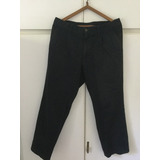 Pantalón Pinzado De Gabardina Azul