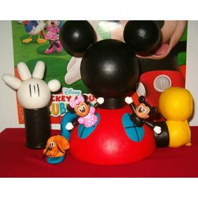 Adorno P/ Torta : La Casa De Mickey Mouse + 3 Personajes!