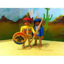 Playmobil Pareja De Indios Nativos De Los 80