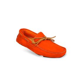 Zapato Mocasín Para Hombres Mega 1672 Naranja