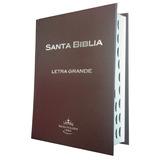 Biblia Letra Grande Tapa Dura Indice Café Chocolate Rvr60