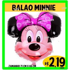Balão Da Minnie Cabeção Rosa (pacotes Com 10 Unidades)