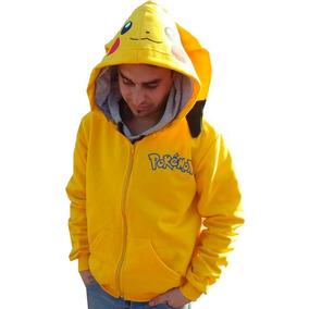 Campera Pikachu Pokemon Go Adolescentes Adultos Con Capucha