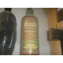 Antigua Botella De Pineral Llena Sin Abrir