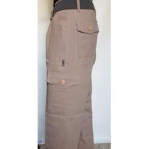 Pantalon Cargo Beige Linco C/ Pampero T. 38 Al 48