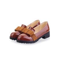Zapatos De Moda Importados De Patente Lazo Dama T8 Nuevos