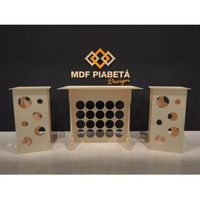 Kit Provençal Mdf Esfera Colmeia - Decoração Festa Mesa Cubo