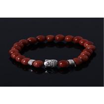 Pulseira Bracelete Buda Shambala Pedra Natural - Marrom