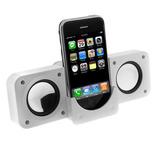 Blanco Altavoz Estéreo Plegable Portátil Para Ipod Touch De