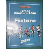 Fixture El Grafico Futbol Torneo Apertura 2000 Sin Uso