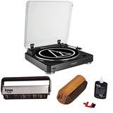 Toca Discos Audio Technica At-lp60bk Con Kit De Limpieza