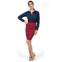 Blusa Social Fashion Feminina Principessa Laurita