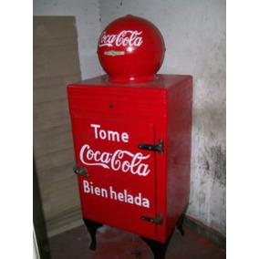 Heladera Antigua De Coca Cola
