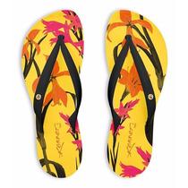 Chinelo Feminina Lançamento Kenner Ibiza Botanic Amarelo