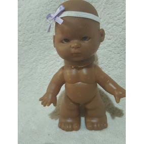 Boneca Peladinha Negra 15cm