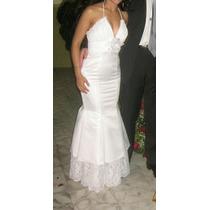 Traje De Novia, Blanco, Xs, Vestido Matrimonio