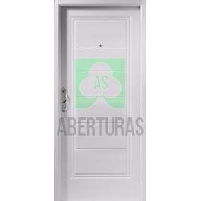 Aberturas: Puerta Doble Chapa Inyectada Nexo Machimbrada