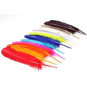 Penas De Pato Coloridas 50 Unidades - Plumas E Penas
