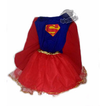 Disfraz Super Girl Superchica Artesanal Talle 3/4 Años