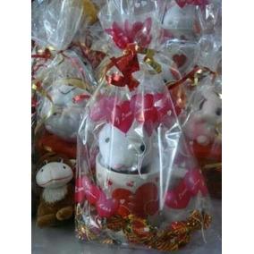 Paq 20 Bolsa De Celofan Decorada Chica Mayoreo Amor Navidad
