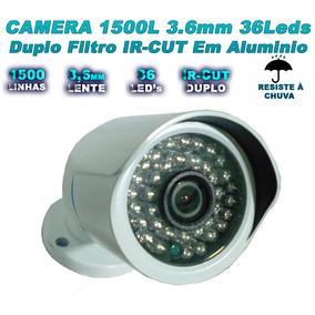 Câmera Segurança Infra Red 1500 Linhas Filtro Ir Cut 60 Mts