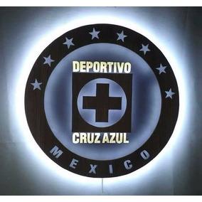 Logotipo Cruz Azul Retroiluminado Con Leds - Maquina Celeste