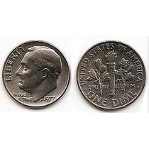 Moneda Estados Unidos One 1 Dime 10 Centavos Año 1977