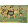 Gorda Entrando Al Mar Postal Humor Ilustrada Color Caricatur