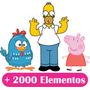 Elementos 074 - +2000 Desenhos Infantil Vetores E Outros