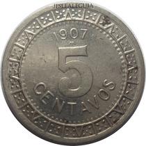 5 Centavos 1907 Estados Unidos Mexicanos - Brillo Original