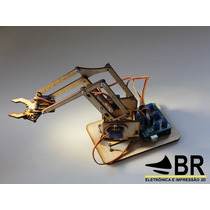 Kit Braço Robótico Em Mdf + Parafusos -- Arduino
