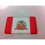 Adesivo Resinado Da Bandeira Da Cidade De Marília (sp) 5x3