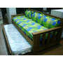 Super Divan Macizo Con Carro Y Frontal Incluido!!imbatible!!