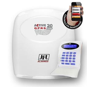 Central De Alarme Residencial Active 20 Gprs Com Teclad Jfl