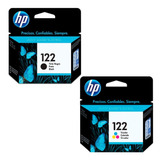 Pack Cartucho Hp 122 Negro Ch561hl Tricolor Ch562hl Combo