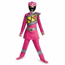 Solo Talla 7-8 Disfraz Niña Power Ranger Dino Charge Rosa